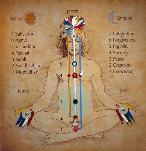 Sahaja Yoga chakras diagrama