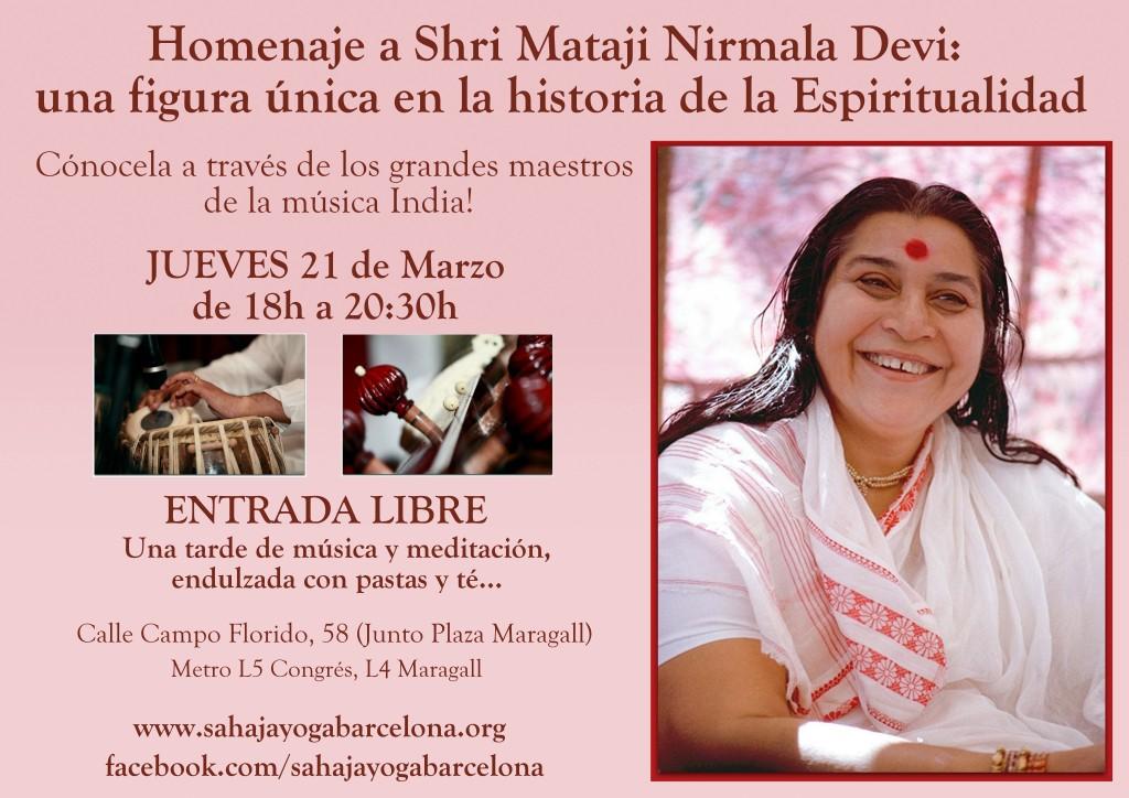 Homenaje a Shri Mataji la fundadora de Sahaja Yoga